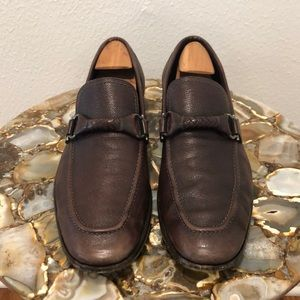 Salvatore Ferragamo braided leather bit loafers